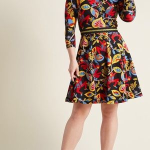 Right on the Monkey A-line Dress